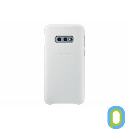 Samsung Galaxy S10 E bőr hátlap, Fehér