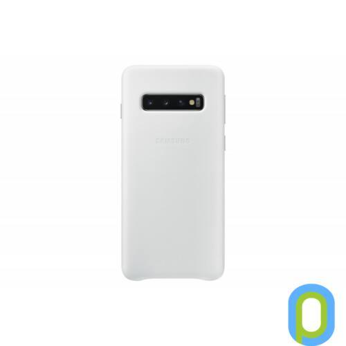 Samsung Galaxy S10 bőr hátlap, Fehér