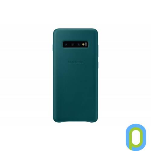 Samsung Galaxy S10+ bőr hátlap, Zöld