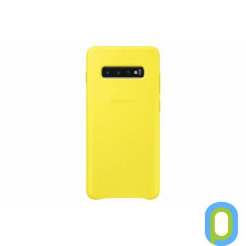 Samsung Galaxy S10+ bőr hátlap, Sárga