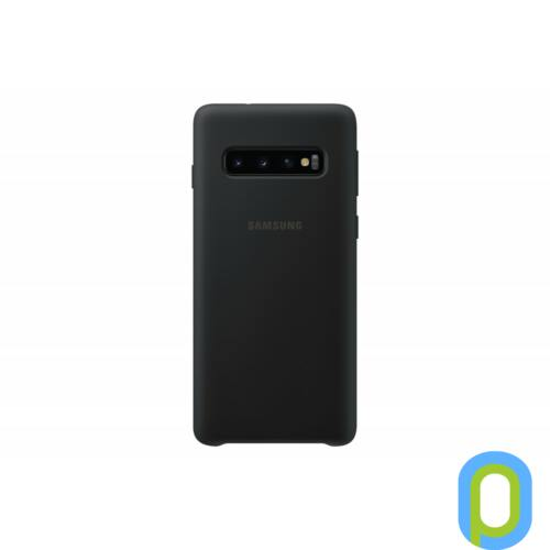 Samsung Galaxy S10 szilikon védőtok, Fekete