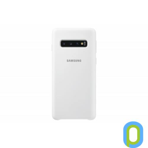 Samsung Galaxy S10 szilikon védőtok, Fehér