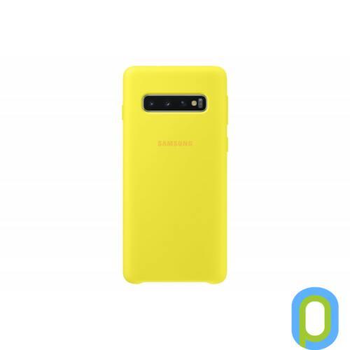 Samsung Galaxy S10 szilikon védőtok, Sárga
