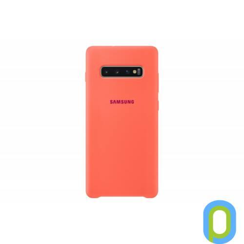 Samsung Galaxy S10+ szilikon védőtok, Berry Pink