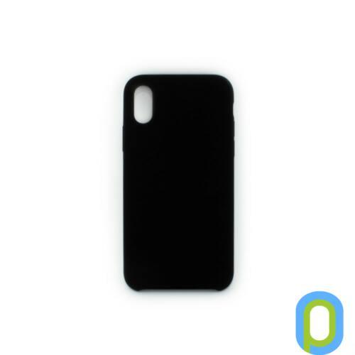 Premium szilikon tok, iPhone XS, Fekete