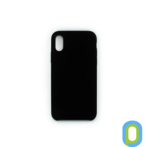 Premium szilikon tok, iPhone XR, Fekete