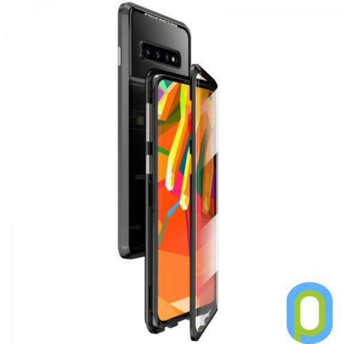 Mágneses telefontok, elő és hátlap, Galaxy S10, Fekete