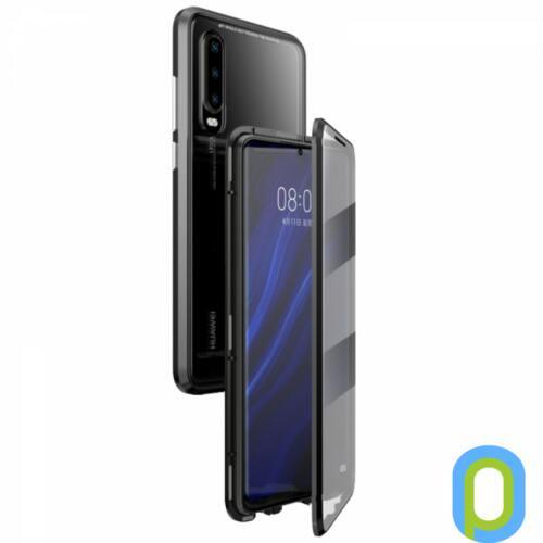 Mágneses telefontok, elő és hátlap,iPhone X,Fekete