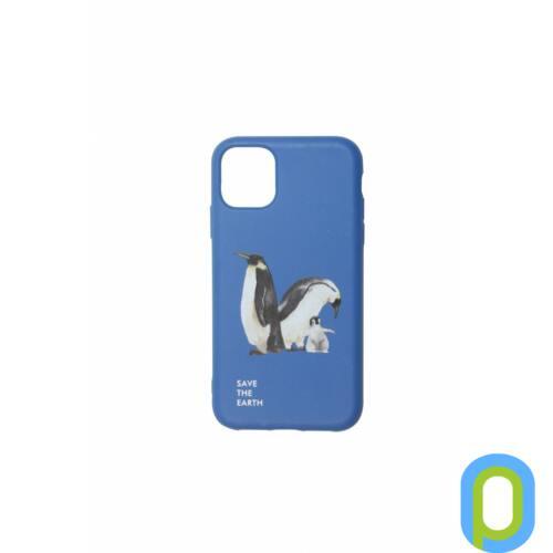 Cellect GoGreen iPhone 11,Sötét kék, Pingvin