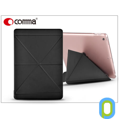 Apple iPad 9.7 (2017) védőtok (Smart Case) on/off funkcióval - Comma Exquisite Flip Case - black