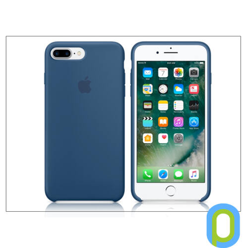 Apple iPhone 7 Plus/iPhone 8 Plus eredeti gyári szilikon hátlap - MMQX2ZM/A - ocean blue