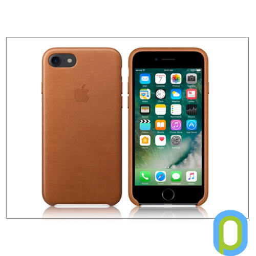Apple iPhone 7/iPhone 8/SE 2020 eredeti gyári bőr hátlap - MMY22ZM/A - saddle brown