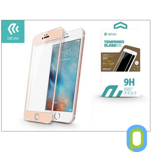 Apple iPhone 6/6S üveg képernyő- + Crystal hátlapvédő fólia - Devia Jade 2 Full Screen Tempered Glass Glossy - 1 + 1 db/csomag - cham. gold