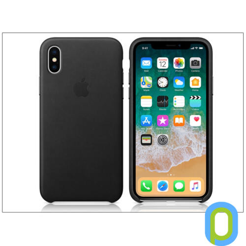 Apple iPhone X eredeti gyári bőr hátlap - MQTD2ZM/A - black
