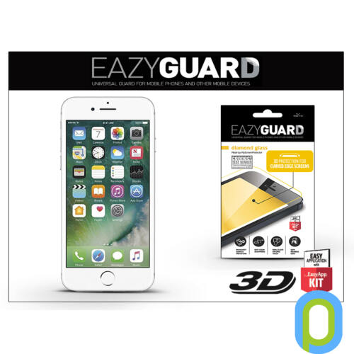 Apple iPhone 7 Plus gyémántüveg képernyővédő fólia - Diamond Glass 3D Fullcover - fehér