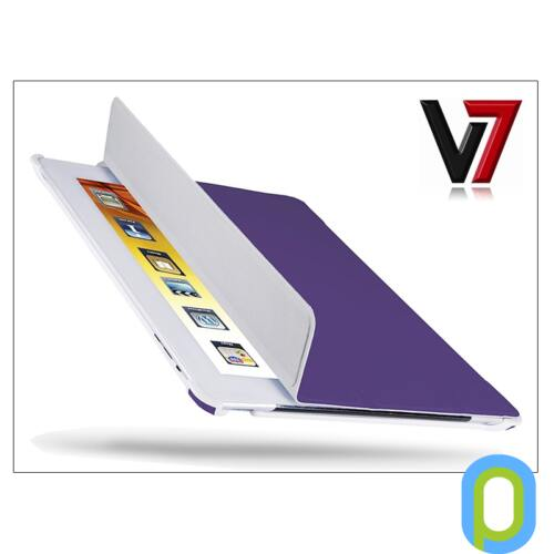 Apple iPad2/iPad3/iPad4 tok - V7 Ultra Slim Folio Stand - lila