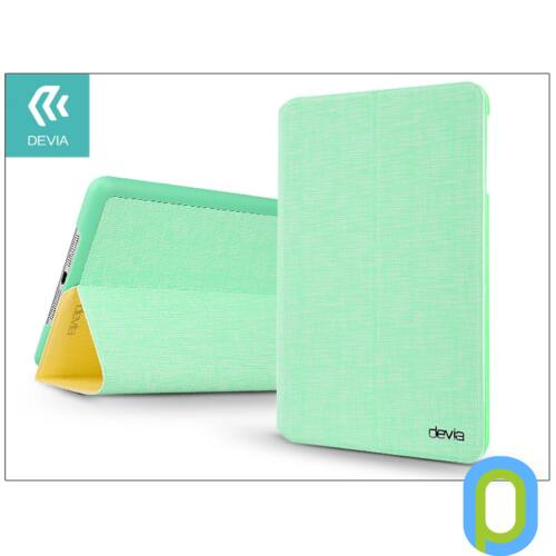 Apple iPad Mini 2/Mini 3 védőtok (Smart Case) on/off funkcióval - Devia Youth Series - green/yellow