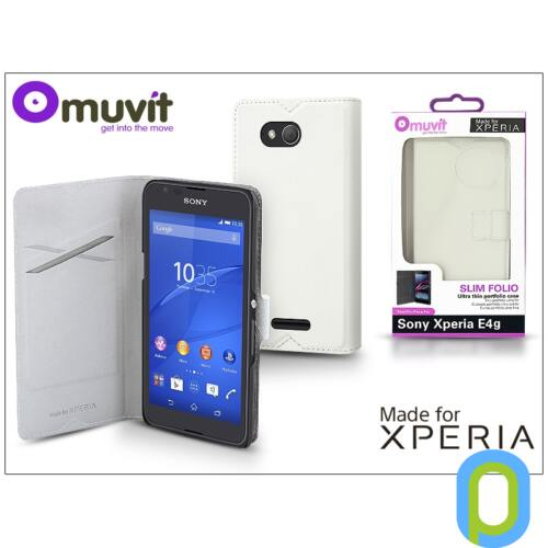 Sony Xperia E4G (E2003) flipes tok - Made for Xperia Muvit Slim Folio - white