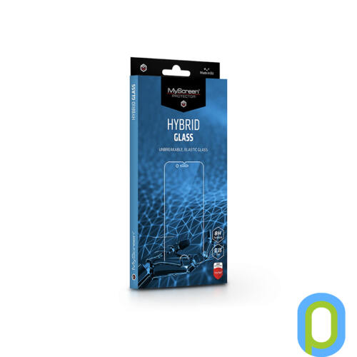 Huawei P40 Lite/P20 Lite (2019) rugalmas üveg képernyővédő fólia - MyScreen Protector Hybrid Glass - transparent