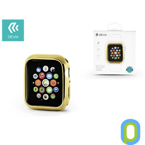 Apple Watch 4 védőtok - Devia Dazzle Gold-Plated Series 40 mm - arany