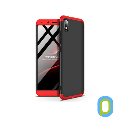 Xiaomi Redmi 7A hátlap - GKK 360 Full Protection 3in1 - fekete/piros