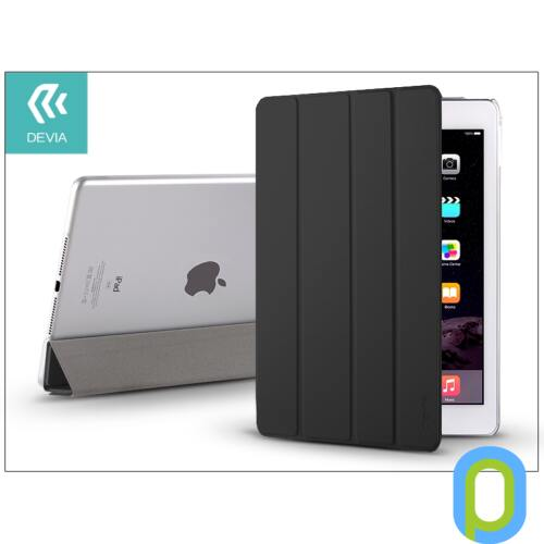 Apple iPad Air 2 védőtok (Smart Case) on/off funkcióval - Devia Basic - black