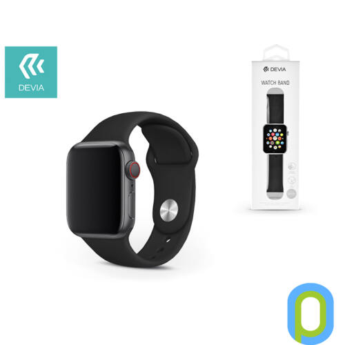 Apple Watch lyukacsos sport szíj - Devia Deluxe Series Sport Band - 38/40 mm - black