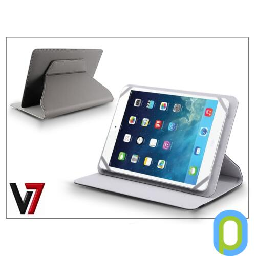 """Univerzális forgatható tablet tok 7-8"""" méretű készülékig - V7 Universal Folio Stand - szürke"""