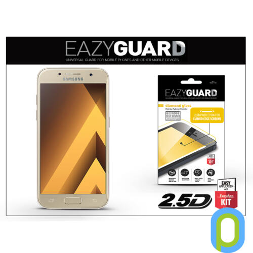 Samsung A520F Galaxy A5 (2017) gyémántüveg képernyővédő fólia - Diamond Glass 2.5D Fullcover - gold