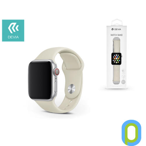 Apple Watch lyukacsos sport szíj - Devia Deluxe Series Sport Band - 42/44 mm - stone