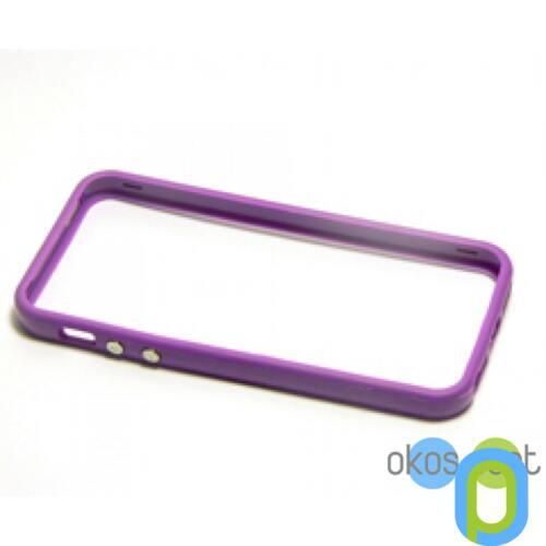 Apple iPhone 5/5s/SE Bumper keret, lila