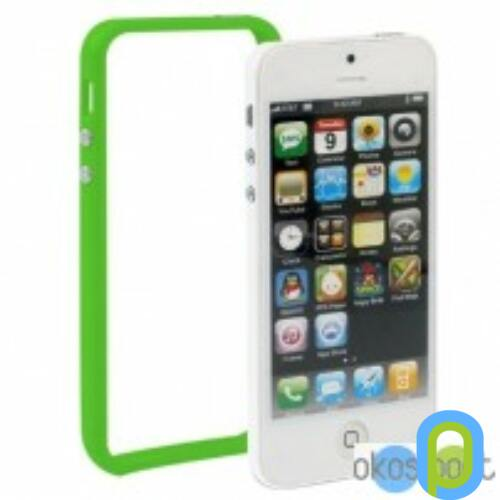 Apple iPhone 5/5s/SE Bumper keret, zöld