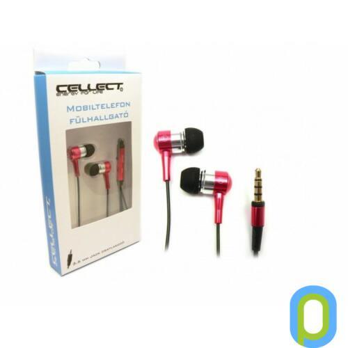 Cellect 3.5 jack sztereó headset,Piros