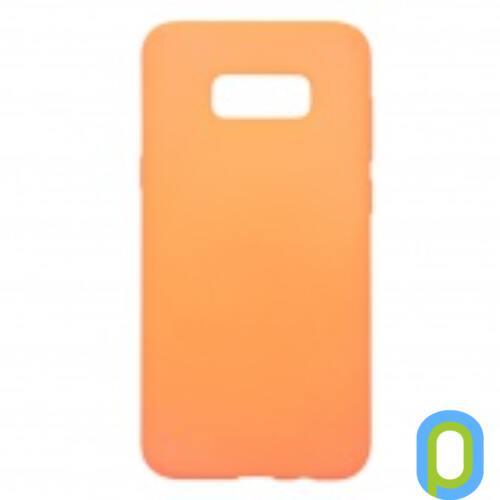 Samsung Galaxy S8+ G955 Prémium Neon Szilikon tok, narancs