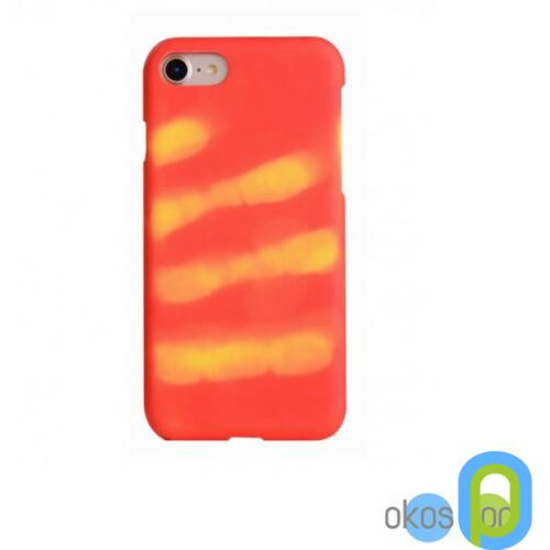 Apple iPhone 7 szilikon tok, színváltós, piros