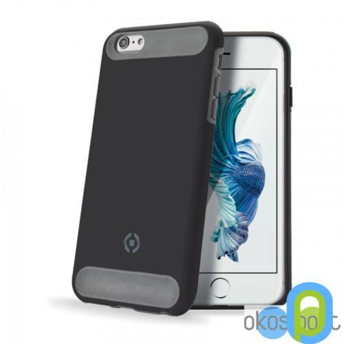 Celly Apple iPhone 6/6S Plus ütésálló szilikon hátlap, fekete