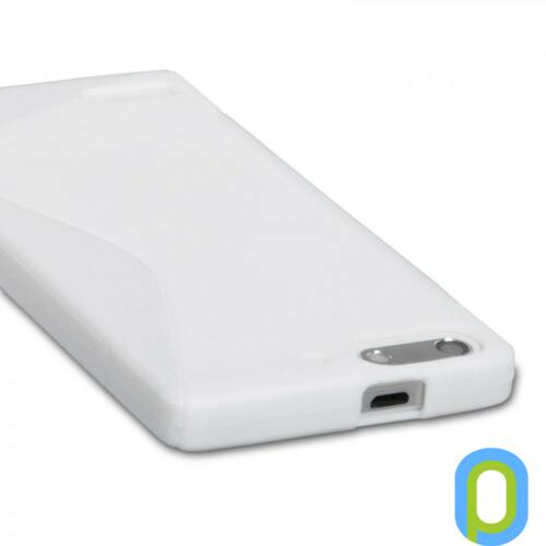 Szilikon tok, Huawei G6, fehér-g