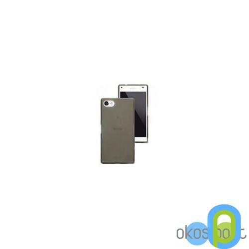 Sony Xperia Z3 compact szilikon tok, füst színű