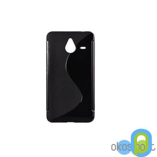 Microsoft Lumia 640 szilikon tok, fekete