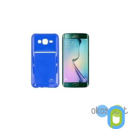 Samsung Galaxy S6 edge szilikon tok, zselés, kék