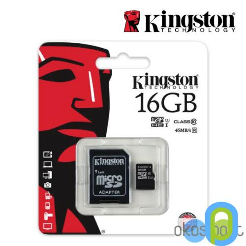 5.Kingston microSDHC,16 GB, 1 adapterrel,class4
