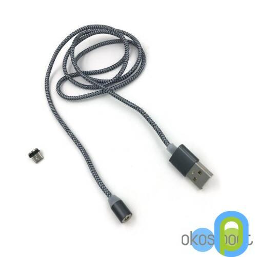 Mágneses töltő és adatátviteli kábel, micro USB