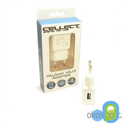 Cellect Hálózati töltő adapter fej 2mHa, fehér
