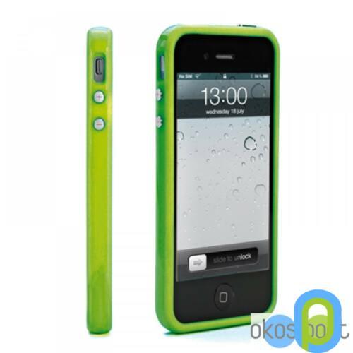Apple iPhone 5/5s/SE Bumper keret+fólia, zöld
