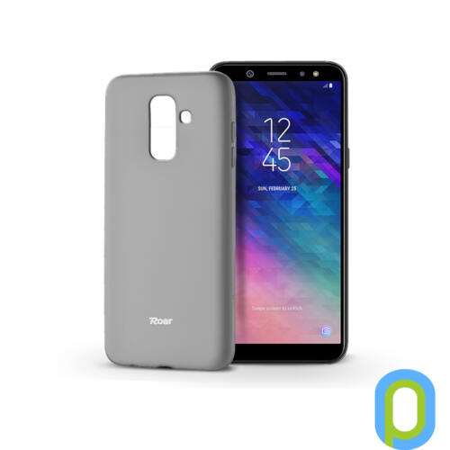 Samsung A605 Galaxy A6 Plus (2018) szilikon hátlap - Roar All Day Full 360 - szürke