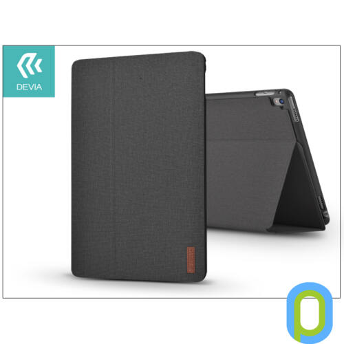 Apple iPad 9.7 (2017/2018) védőtok (Smart Case) on/off funkcióval - Devia Flax Flip - black
