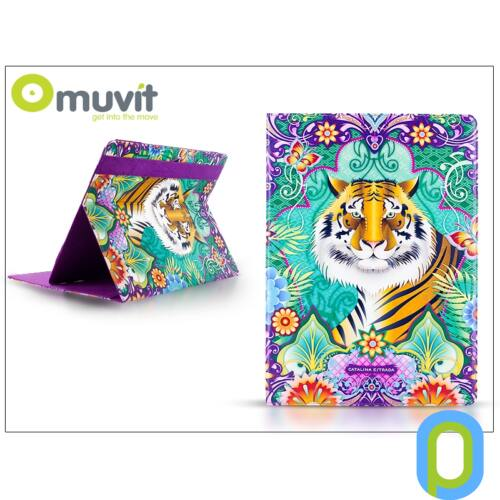 """Muvit univerzális tok 7"""" méretű tablet készülékekhez - Muvit Catalina Estrada - Tigre"""