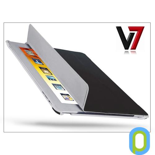 Apple iPad2/iPad3/iPad4 tok - V7 Ultra Slim Folio Stand - fekete
