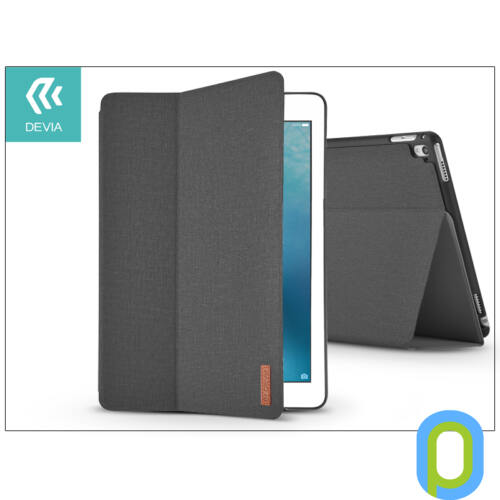 Apple iPad Pro 12.9 (2016)/iPad Pro 12.9 (2017) védőtok (Smart Case) on/off funkcióval - Devia Flax Flip - black