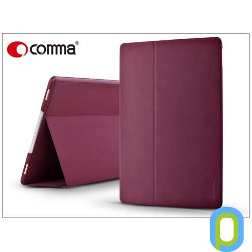 Apple iPad Pro 12.9 védőtok (Book Case) on/off funkcióval - Comma Elegant Series - red